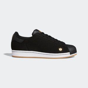 Adidas Superstar Pure Black White Gold M9 / W10